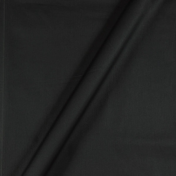 Cotton Satin Black Colour 43 Inches Width Plain Dyed Fabric