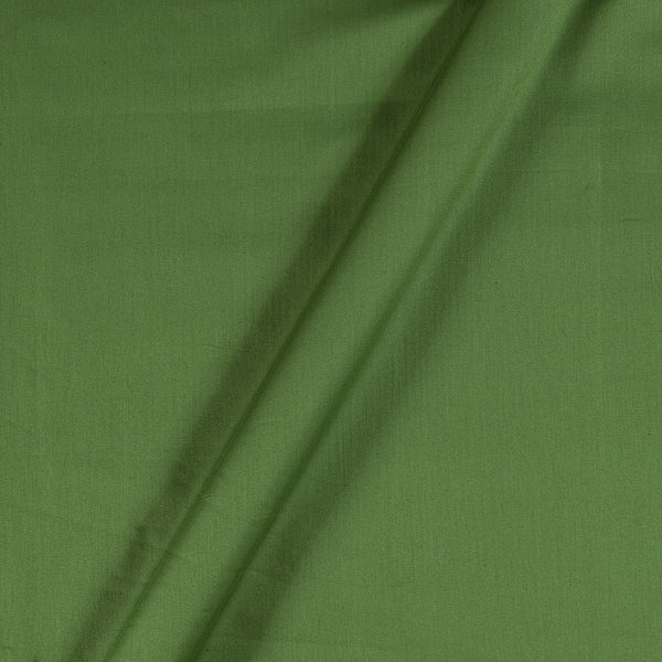 Cotton Satin Moss Green Colour 43 Inches Width Plain Dyed Fabric