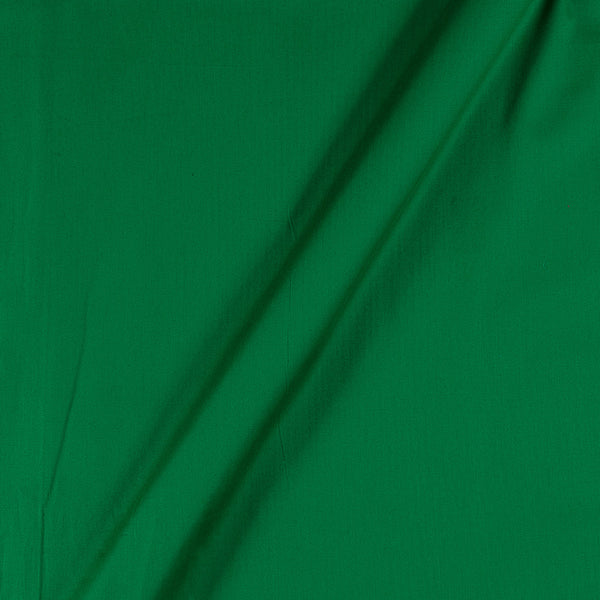 Cotton Satin Green Colour 43 Inches Width Plain Dyed Fabric