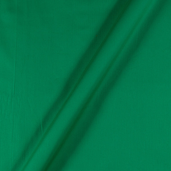 Cotton Satin Emerald Green Colour 43 Inches Width Plain Dyed Fabric
