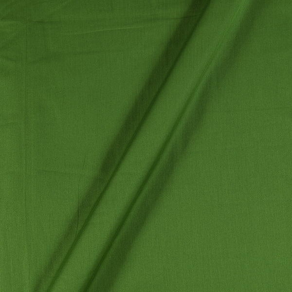 Cotton Satin Leaf Green Colour 43 Inches Width Plain Dyed Fabric