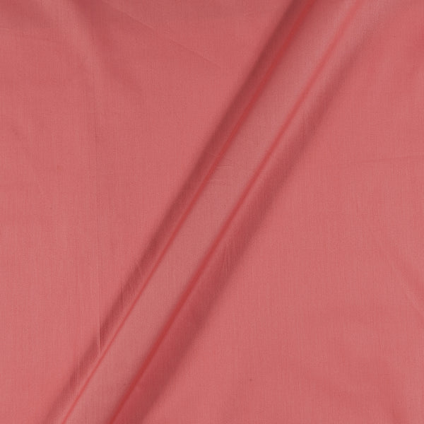 Cotton Satin Sugar Coral Colour 43 Inches Width Plain Dyed Fabric