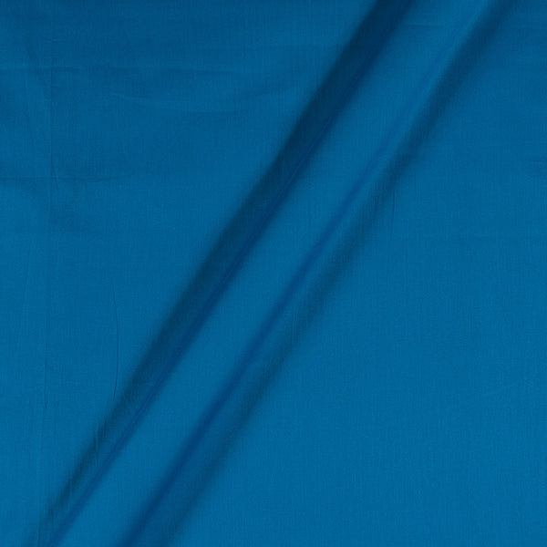 Cotton Satin Ocean Blue Colour 43 Inches Width Plain Dyed Fabric