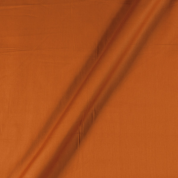 Cotton Satin Tangerine Orange Colour 43 Inches Width Plain Dyed Fabric