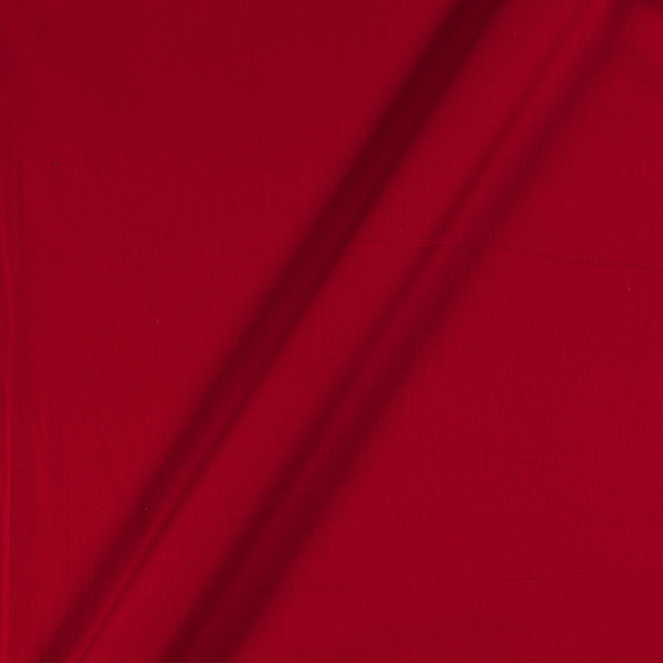 Cotton Satin Red Colour 43 Inches Width Plain Dyed Fabric