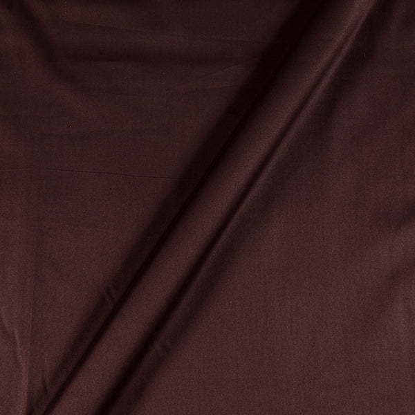 Cotton Satin Coffee Colour 43 Inches Width Plain Dyed Fabric