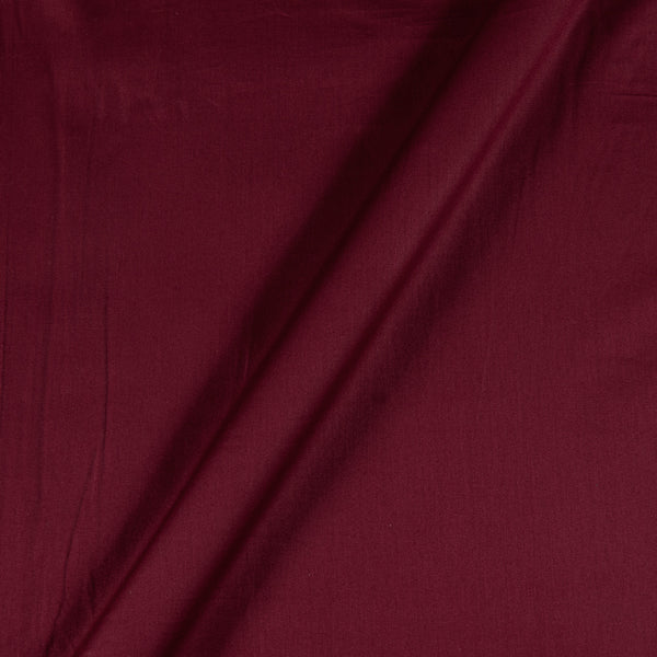 Cotton Satin Maroon Colour 43 Inches Width Plain Dyed Fabric