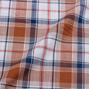 White Brown Colour Checks Cotton Shirting Fabric 58 inch Width