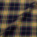 Multi Colour Checks Cotton Shirting Fabric 56 inch Width