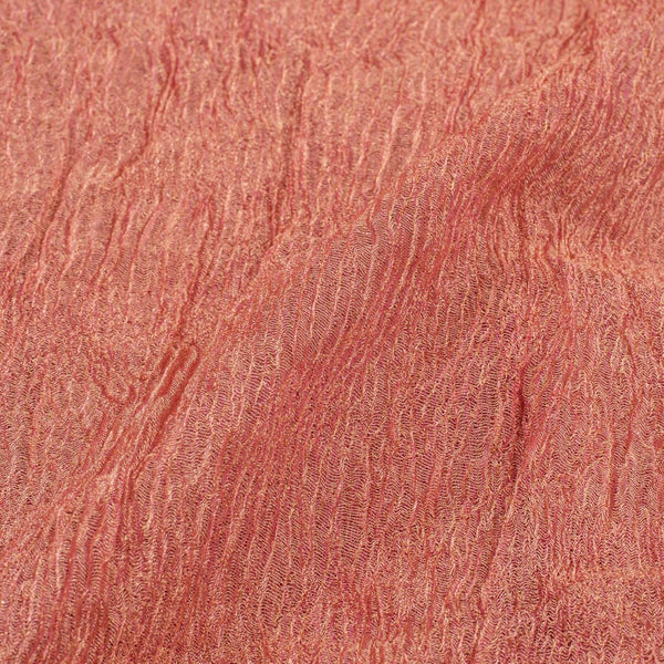 Pink Colour 28 inches Width Crush Tissue Fabric