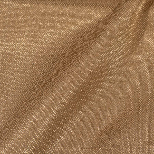 Mastani Tissue Gold Colour 43 inches Width Geometric Print Fabric