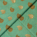 Emboss Gold & Silver Butta Katan Silk Fabric