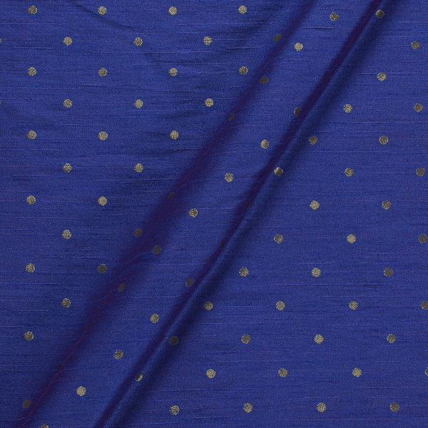 Artificial Raw Silk Blue By Pink Two Tone Zari Butti Jacquard Fabric
