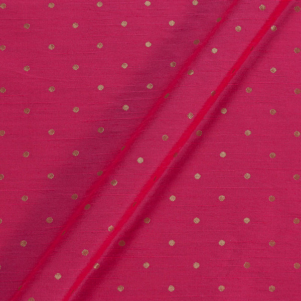 Artificial Raw Silk Fuchsia Colour Zari Butti Jacquard Fabric