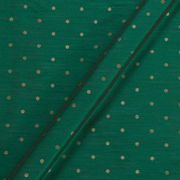 Artificial Raw Silk Green By Red Two Tone Zari Butti Jacquard Fabric