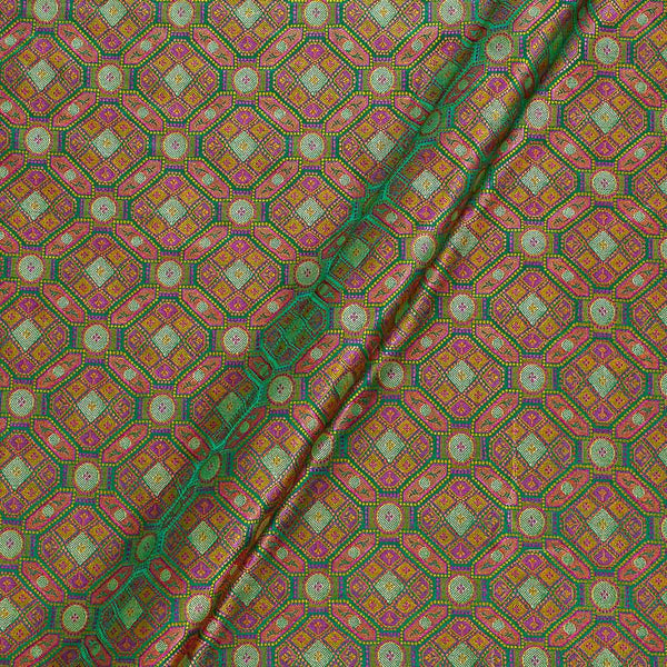 Silk Feel Green Two Tone  43 Inches Width Banarasi Brocade Fabric