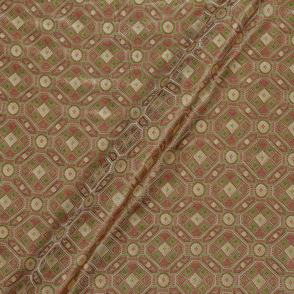 Silk Feel Beige Two Tone 43 Inches Width Banarasi Brocade Fabric