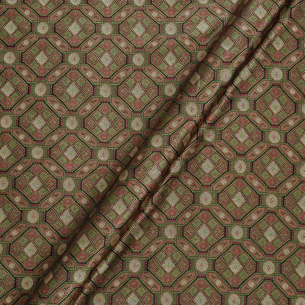 Silk Feel Black Colour 43 Inches Width Banarasi Brocade Fabric