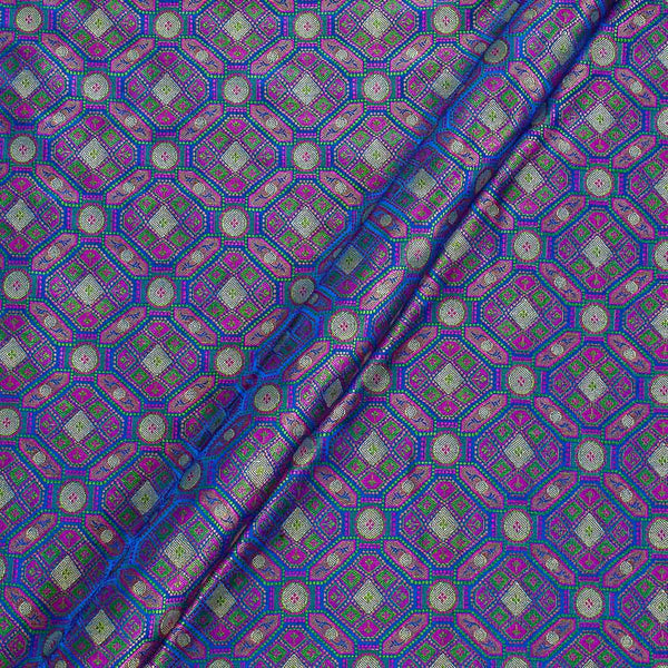 Silk Feel Royal Blue Colour 43 Inches Width Banarasi Brocade Fabric