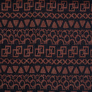 Black Colour Geometric Design Chanderi Feel Fancy Jacquard Cotton Fabric