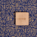 Royal Blue Colour Quirky Print Chanderi Feel Fancy Jacquard Cotton Fabric