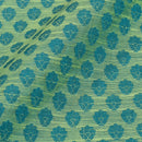 Pastel Green Colour Floral Print Chanderi Feel Fancy Jacquard Cotton Fabric