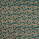 Rama Green Colour Floral Jaal Print Chanderi Feel Fancy Jacquard Cotton Fabric