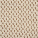 Off White Colour Floral Butta Print Jute Type  Jacquard Cotton Fabric