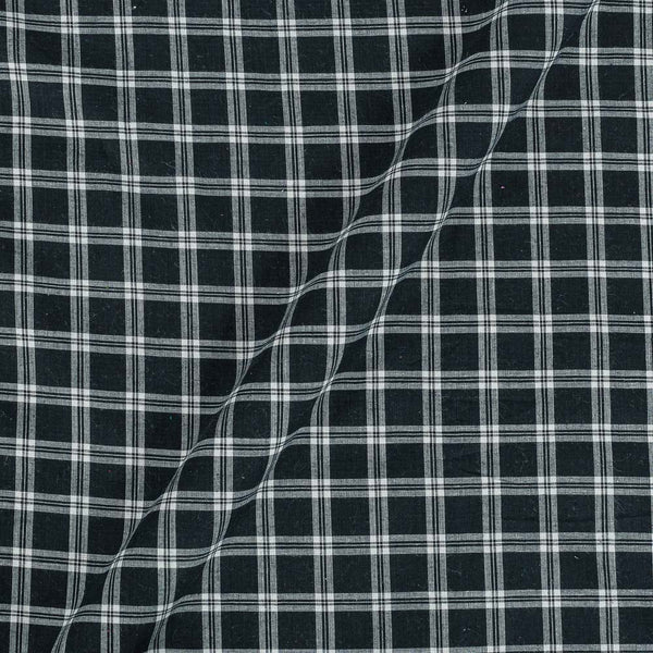 Cotton Black Colour Checks 43 Inches Width Fabric