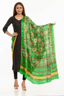 Parrot Green Colour Digital Patola Print Modal Dupatta