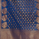 Navy Blue Colour Copper Zari Jaal & Butta Print Katan Silk Type Banarasi Dupatta