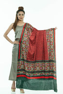 Maroon Colour Artificial Mirror Work Gaji Dupatta