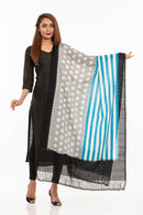 Multi Colour Ikat Handloom Cotton Dupatta