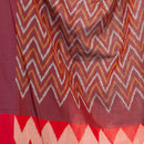 Maroon Colour Ikat Handloom Mercerised Cotton Dupatta
