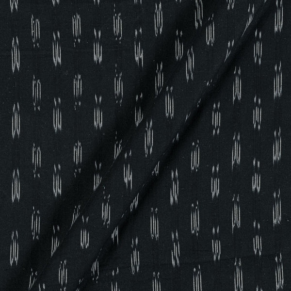 Ikat Cotton Black Colour 43 Inches Width Washed Fabric