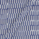 Ikat Cotton White Colour 43 Inches Width Washed Fabric