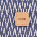 Ikat Cotton Cadet Blue Colour 42 inches Width Fabric