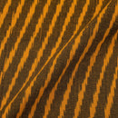 Ikat Cotton Mustard Brown Colour 42 inches Width Fabric