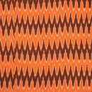 Ikat Cotton Rust Orange Colour 42 inches Width Fabric