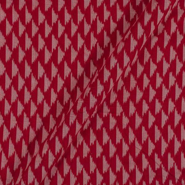 Mercerised Cotton Ikat Red Colour Fabric