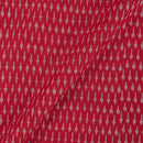 Mercerised Cotton Ikat 45 Inches Width Red Colour Fabric