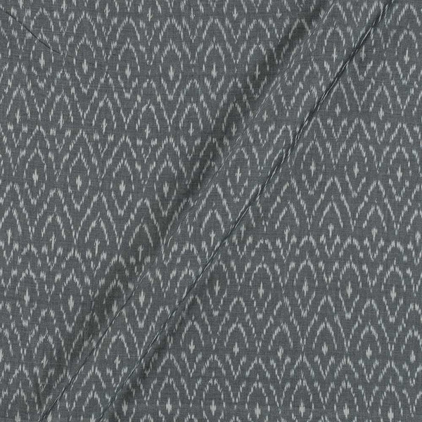 Mercerised Cotton Ikat Grey Colour Fabric