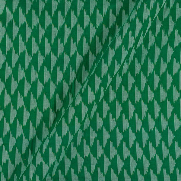 Mercerised Cotton Ikat Dark Green Colour Fabric