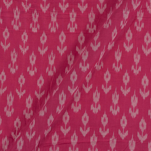 Mercerised Cotton Ikat Pink Colour Fabric