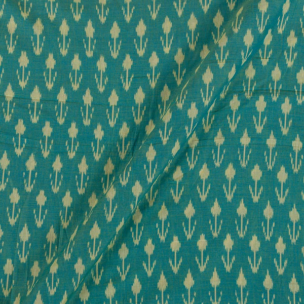 Mercerised Cotton Ikat Blue And Green Two Tone Fabric