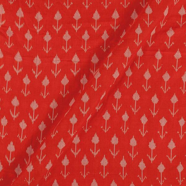 Mercerised Cotton Ikat Fanta Orange Colour Fabric