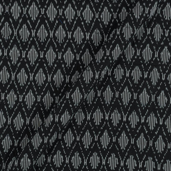 Mercerised Cotton Ikat Black Colour Fabric