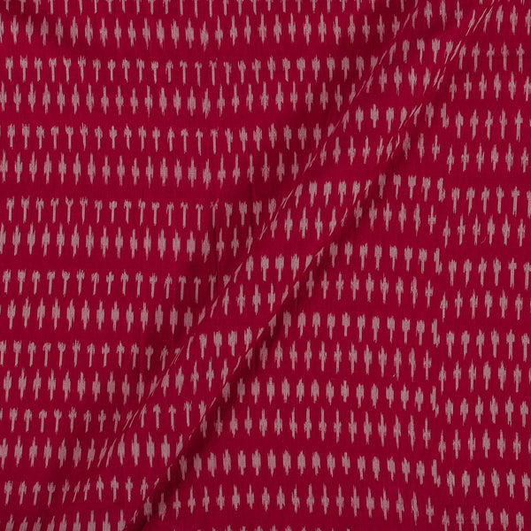 Mercerised Cotton Ikat Carrot Pink Colour Fabric