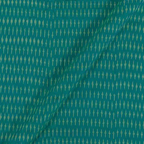 Mercerised Cotton Ikat Green Two Tone Fabric
