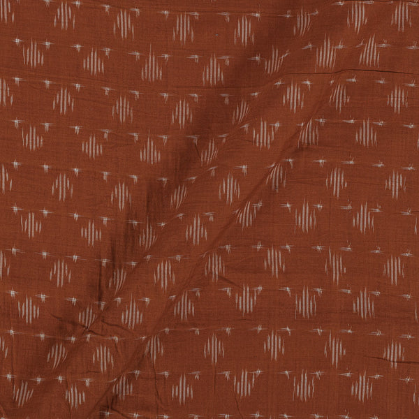 Mercerised Cotton Ikat  Mustard Brown Colour Fabric